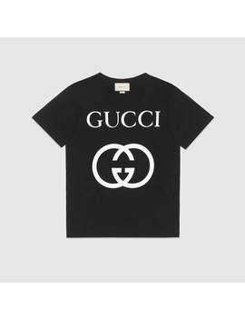 Oversize T Shirt With InterlockingG by Gucci
