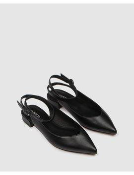 Ciera Dress Flats Black Leather by Jo Mercer