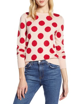 X Atlantic Pacific Polka Dot Sweater by Halogen®