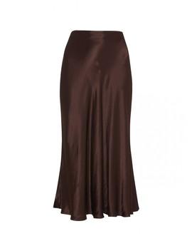 Marie Chocolate Midi Skirt by Kitri