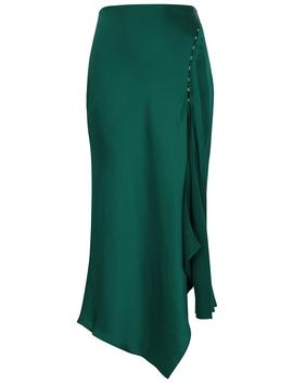 Teal Satin Midi Skirt by Jonathan Simkhai