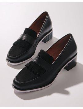 Jojo Low Heels Black Leather by Jo Mercer
