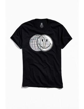 Happy Face Disco Foil Tee by Urban Outfitters