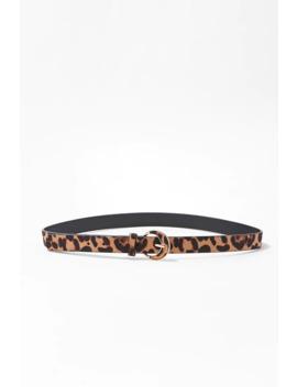 Leopard Print Hip Belt by Forever 21