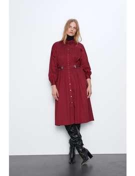 Vestido Midi CinturÓn by Zara