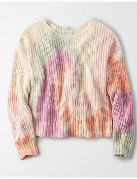 Ae Tie Dye Crew Neck Sweater by American Eagle Outfitters