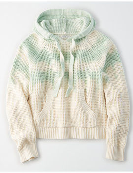 Ae Tie Dye Waffle Hooded Sweater by American Eagle Outfitters