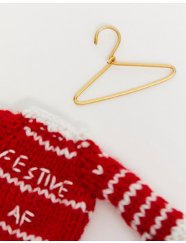 Typo Festive Af Jumper Christmas Decoration by Typo