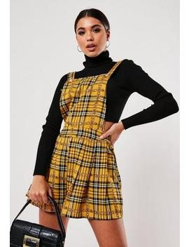 Yellow Check Chain Print Playsuit by Missguided