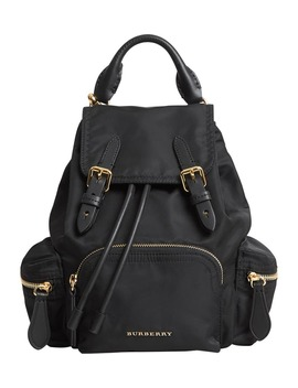 Small Rucksack Technical Nylon & Leather Backpack by Burberry