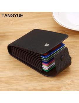 Tangyue Men Credit Card Holder Leather Purse For Cards Case Wallet For Credit Id Bank Card Holder Women Cardholder And Coins by Ali Express.Com