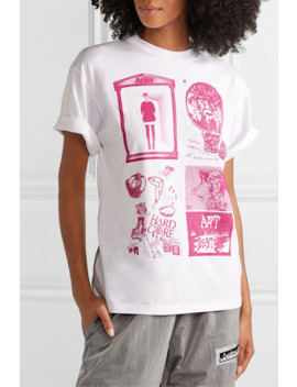 Zine Printed Cotton Jersey T Shirt by Aries