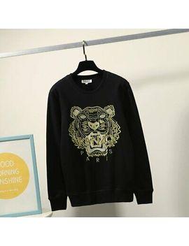 <Span><Span>Kenzo² Paris Unisex Tiger Head Embroidery Logo Jumper Crew Neck Sweatshirt</Span></Span> by Ebay Seller