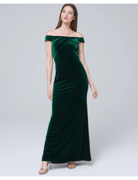 Velvet Off The Shoulder Gown by Whbm