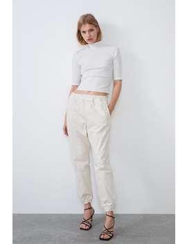 Maglietta A Costine Con Collo Alto by Zara