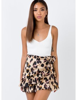 Ginuwine Mini Skirt Leopard by Princess Polly
