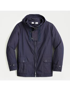 Omnigod® Military Hooded Jacket In Indigo Black by Omnigod