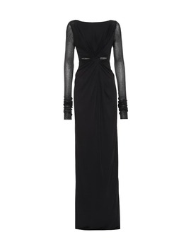 Lilies Cotton Blend Jersey Gown by Rick Owens