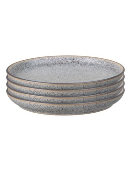 Studio Grey Stoneware 4 Piece Coupe Salad Plate Set by Denby