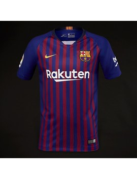 Nike Kids Fc Barcelona 2018/19 Home Stadium Ss Jersey   Deep Royal Blue/University Gold by Pro Direct Soccer