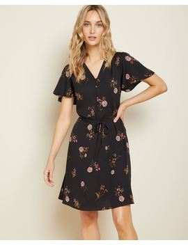 Belted Floral Dress by Rw & Co
