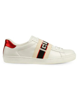 Gucci Stripe Leather Sneaker by Gucci