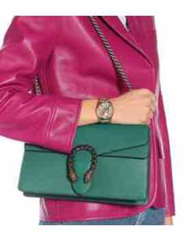 G Timeless Gg Bloom Leather Watch by Gucci