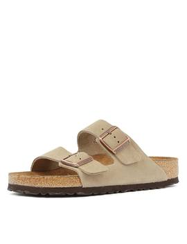 Arizona Sfb Taupe Suede by Birkenstock