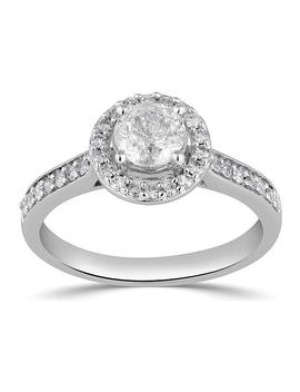 Tradition Diamond 14 Kt White Gold 1 Cttw Certified Diamond Halo Ring   Size 7 Only Tradition Diamond 14 Kt White Gold 1 Cttw Certified Diamond Halo Ring   Size 7 Only by Sears