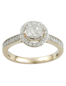 Tradition Diamond 14 K Yellow Gold 1 Cttw Certified Diamond Round Halo Promo Solitaire Plus Ring   Size 7 Only Tradition Diamond 14 K Yellow Gold 1 Cttw Certified Diamond Round Halo Promo Solitaire Plus Ring   Size 7 Only by Sears
