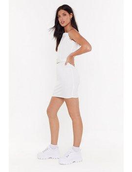 My Heart Frill Go On Linen Mini Dress by Nasty Gal