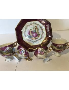 "Kpm ""Couple Courting"" Decorative Plate And Tea Cup Set. by Etsy"