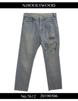 N.Hoolywood / Iceblue Damaged Denim Pants / 7612   0506 48.666 by N. Hoolywood  ×