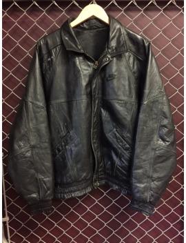 Vintage 80s Nike Flight Leather Jacket Jordan by Nike  ×