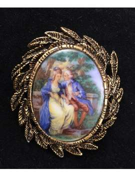 Vintage Courting Couple Pin Or Brooch Pendant by Etsy
