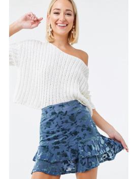 Floral Velvet Mini Skirt by Forever 21