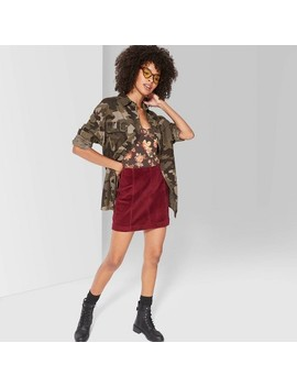"<Span><Span>Women's High Rise Corduroy Mini Skirt   Wild</Span><Br><Span>Fable Burgundy</Span></Span><Span Style=""Position: Fixed; Visibility: Hidden; Top: 0px; Left: 0px;"">…</Span> by Rise Corduroy Mini Skirt"