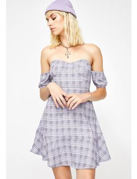 Tropea Off The Shoulder Mini Dress by Lioness