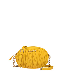 Matelassé Nappa Leather Bandoleer Bag by Miu Miu