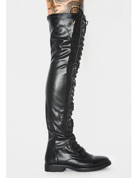 Revived Thigh High Boots by Azalea Wang