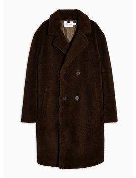 Khaki Teddy Faux Fur Jacket by Topman