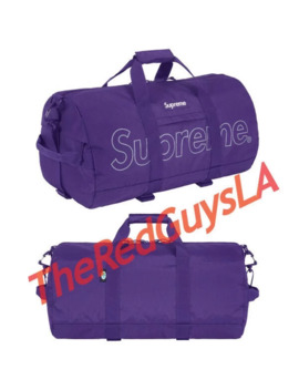 Supreme 18 F/W Duffle Bag Purple 1000% Authentic In Hand by Supreme  ×