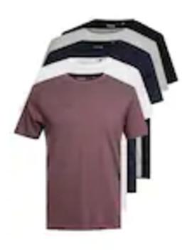 Multipack Tee 5 Pack   T Shirt   Bas by Burton Menswear London