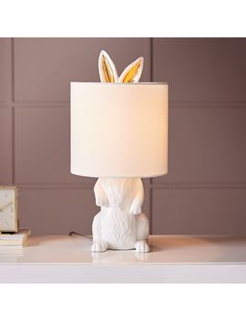 Ceramic Nature Rabbit Table Lamp, White by West Elm
