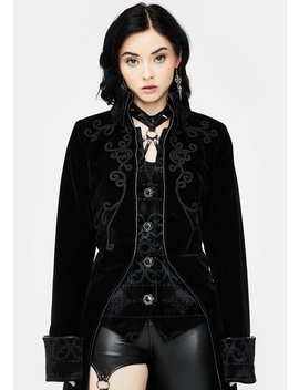 Long Pirate Mid Button Coat by Devil Fashion