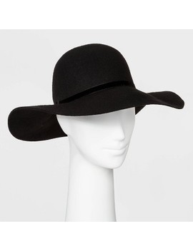 Women's Felt Floppy Wide Brim Hat   A New Day™ Black by A New Day