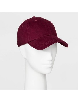 Women's Brushed Soft Hand Cotton Canvas Baseball Hat   Wild Fable™ Burgundy by Wild Fable