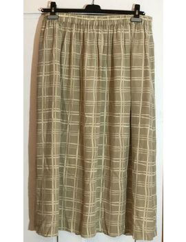Nicole Summers Career Or Casual Tan Maxi Silk Skirt Size Xl by Nicole Summers