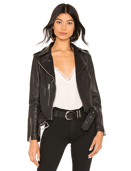 Balfern Leather Biker Jacket In Black by Allsaints