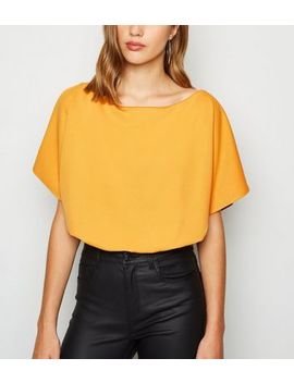 Mustard Batwing Bodysuit by New Look
